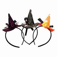 EG_ HK- Pointy Witch Hat Hairband Headband Cosplay Halloween Fancy Dress Costume
