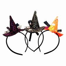 HK- Pointy Witch Hat Hairband Headband Cosplay Halloween Fancy Dress Costume Dul