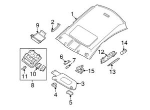 26430-9N03A Nissan Map lamp assy 264309N03A, New Genuine OEM Part
