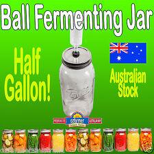 1 x 2L Ball Mason Half Gallon Fermenting Jar BPA Free Tin Lid