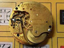 Waltham Pocket Watch Movement c. 1889 - 6 Size Grade J - 7 Jewels - For Parts