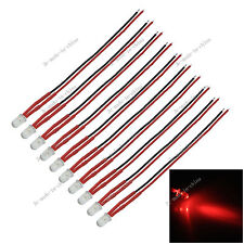 10X 12V Red LED 10cm Pre-wired 5MM LED NON FLASHING CUSTOM LIGHTS DIY Car bulbs