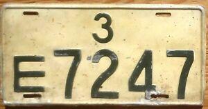 U. S. Forces in Japan License Plate Number Tag