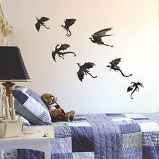 7pcs/set Dinosaurs Boys Rooms Game of Thrones 3D Dragons Wall Stickers Decor New