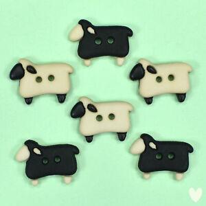 Dress it Up Buttons Sew Thru Sheep 5832  -  Lamb Farm Animals Embellishments
