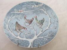 Haviland Limoges 12 Days of Christmas Plate THREE FRENCH HENS Noel 1972 w HANGER