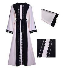 musulmane Dubaï dentelle femmes broderie abaya robe Maxi robe caftan Jilbab Rose