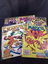 Marvel Age Lot of 5 Comics #45 - 49 Marvel Comics Vintage 1980s X-Men Aragones