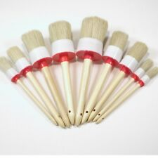 1Set Round Bristle Wooden Handle Chalk Oil Paint Painting Wax Brush