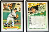 Bobby Witt Signed 1993 Topps #398 Card Oakland Athletics Auto Autograph