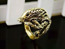 ALIEN VS PREDATOR Gold Ring ALIEN Covenant AVP ARNOLD RIPLEY HICKS Size 12