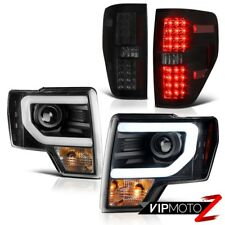 2009-2014 F150 Raptor Style Sinister Black LED Tail Light+Cyclop Optic Headlight
