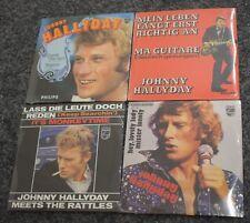 LOT-4 PIECES-JOHNNY HALLYDAY-NEUFS SOUS BLISTER-JOHNNY CHANTE ETRANGER