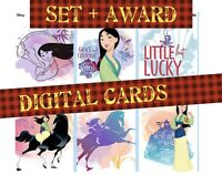 topps collect Disney Mulan Watercolor Bloom Cards Award + Full Set 6 Cards 2020