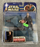 Star Wars Attack of the Clones Anakin Skywalker Force Flipping Action Figure