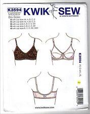 Kwik Sew K3594 32-40 AA-DDD  Sewing Pattern Bra Pre-teens to Grandma