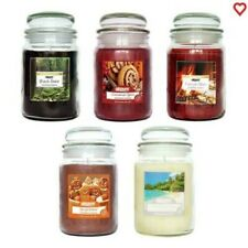 Large Jar Candles Christmas Scent Cinnamon Spice Gingerbread Fireside Glow