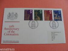 Queen Elizabeth II Silver Jubilee Coronation FDC First Day of Issue 1978 UK
