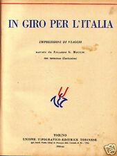 IN GIRO PER L' ITALIA - La scala d'oro - Utet 1934