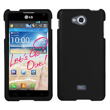 For MetroPCS LG Spirit 4G MS870 Rubberized HARD Case Phone Cover Black