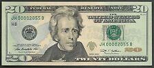 $20 2009==NUMBER 2055==FOUR DIGIT SERIAL==JH 00002055 B==GEM CU