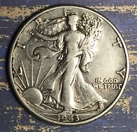 1943 WALKING LIBERTY SILVER HALF DOLLAR COLLECTOR COIN *FREE SHIPPING*