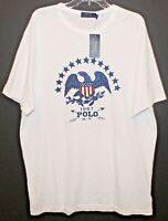 Polo Ralph Lauren Big and Tall Mens LT White Eagle Crewneck T-Shirt NWT Size LT