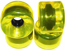 76mm LONGBOARD Wheels CLEAR YELLOW + ABEC 9 BEARINGS
