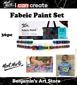 Au36pc x 20ml  MONT MARTE Signature Fabric Paint Set Textile Art Craft Artistic