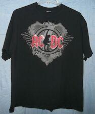 AC/DC Black Ice Tour 08/09 Original Concert XXL T-Shirt 2XL list of cities