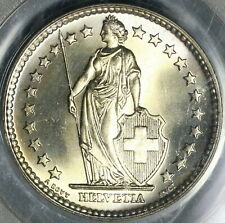 1961 PCGS MS 68 Switzerland 2 Francs Mint State Swiss Coin Pop 4/0 (19111704C)