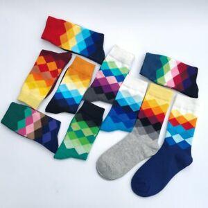 5 Pair Geometric Pattern Print Long Socks Classic Casual Office Fashion For Men