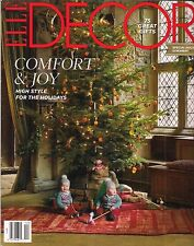 ELLE DECOR MAGAZINE DECEMBER 2015 - COMFORT & JOY - BRAND NEW - FREE SHIP!