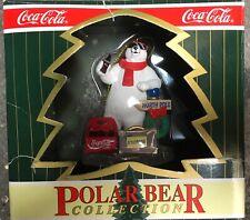 Coca-Cola Polar Bear Collection North Pole to Hollywood Christmas Ornament 1996