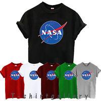 NASA t shirt T-SHIRT ESPACE ASTRONAUT GEEK NERD STAR LOGO FEMME ENFANT HOMME ETE