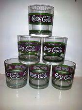 COCA COLA SET 6 BICCHIERI STILE LIBERTY VINTAGE 6 GLASSES LIBERTY