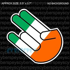Irish Flag Shocker Drift Racing JDM Design Car Vinyl Sticker Decals