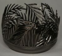Bath & Body Works Nickel Palm Leaves 3 Wick Candle Sleeve Holder