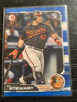 DJ Stewart RC Blue 43/150 2019 Bowman #67 Baltimore Orioles