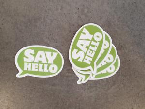Say Hello sticker pack x5, Laptop, novelty, skateboard