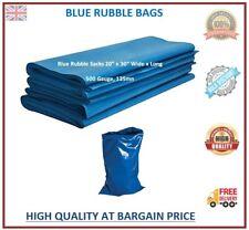 More details for rubble sacks builders waste rubbish heavy duty strong blue bags tough bulk
