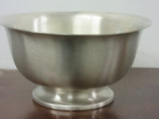 """Kirk- Stieff Paul Revere Liberty Bowl reproduction in pewter new 101/2"""" D"""