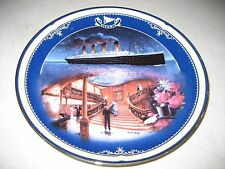 TITANIC QUEEN OF THE OCEAN #2 THE GRAND STAIRCASE Plate COA MIB 1999