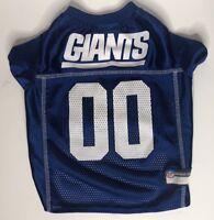 New York Giants NFL Official Pets First Mesh Dog Jersey Size Medium #00