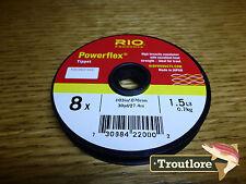 8X RIO POWERFLEX TIPPET 1.5lb 30 YARD SPOOL - NEW FLY FISHING LINE POWEER FLEX