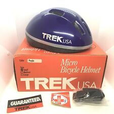 Trek USA micro bicycle helmut small Purple Vintage