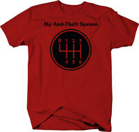 My Anti-theft System Manual Stick Clutch Transmission  Color T-Shirt