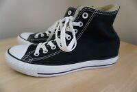 Converse Chuck Taylor All Star Black Canvas High Top Shoes Men's 7 Women's 9