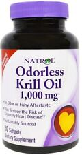 Natrol Odorless Omega-3 Krill Oil Softgels, 1,000mg, 30 Count
