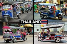 SOUVENIR FRIDGE MAGNET of THAILAND TUK-TUKS
